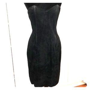 Morgan Taylor vintage 80's suede dress